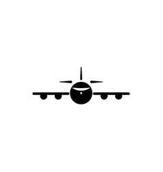 plane view from the front icon element of travel vector image
