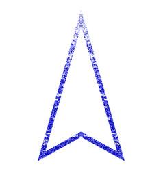 Pointer up grunge textured icon vector