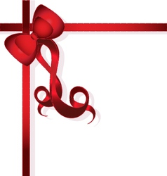 Red Bow for gifts vector image