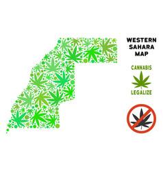Royalty free marijuana leaves collage western vector