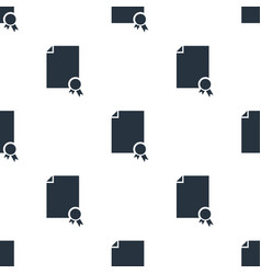 seamless certificate pattern education symbol vector image