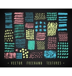Set creative freehand textures vector image