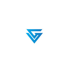Shape line triangle company logo vector