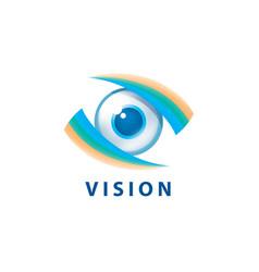 sign in shape eye vector image