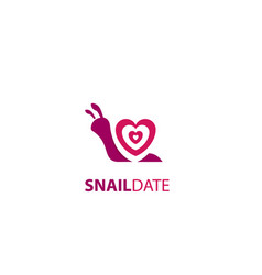 Snail date app logo vector