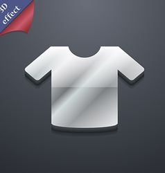 T-shirt Clothes icon symbol 3D style Trendy modern vector