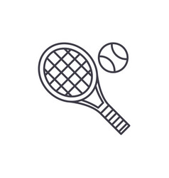 tennis racket line icon concept tennis racket vector image