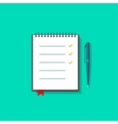 To do list notebook checklist icon vector image
