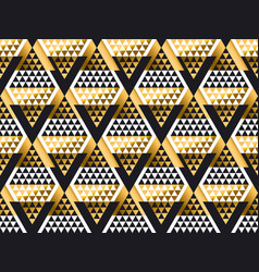 triangle shape geometric art deco seamless pattern vector image