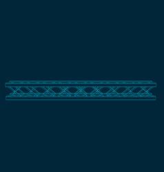 Truss girder outline vector