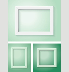 white and green frame set vector image