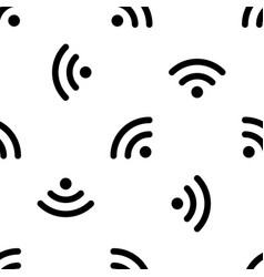 Wifi signal pattern seamless vector