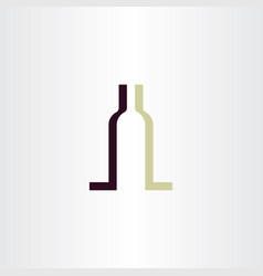 Wine bottle symbol logo element vector