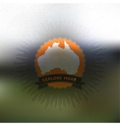 Explore more poster Australia map with vintage vector image vector image