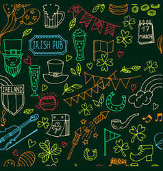 stpatrick s day seamless pattern of the vector image vector image