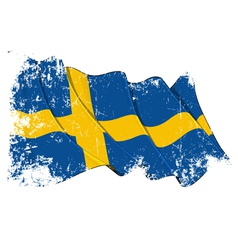 Sweden Flag Grunge vector image