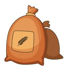 wheat bag icon cartoon style vector image vector image