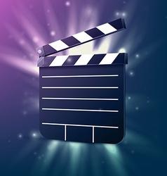 Black cinema clapper vector image