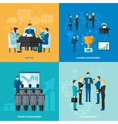 Business Flat Set vector image