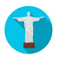 Christ the redeemer icon in flat style isolated on vector
