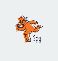 spy icon logo vector image vector image