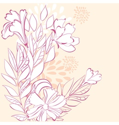 stylized floral background vector image vector image