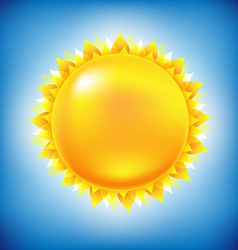 Sun With Sky vector image