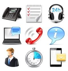 Support and information icons set vector image vector image