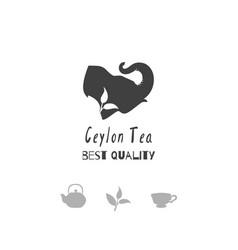 tea shop logo template vector image vector image