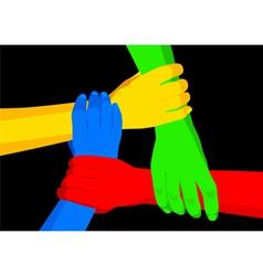 Unity in diversity vector