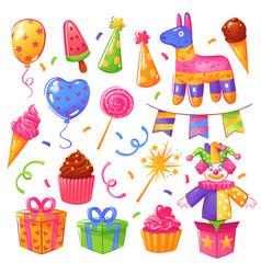 birthday party celebration set vector image vector image