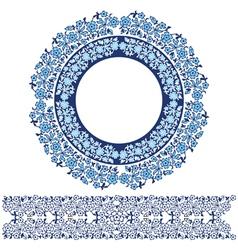 blue ottoman serial patterns twenty three vector image vector image