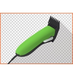 Hair clipper platform cart isometric vector