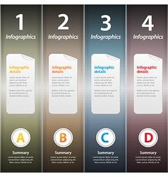 Metallic folders infographic vector image vector image