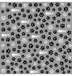 Seamless animal pattern of paw footprint vector image vector image