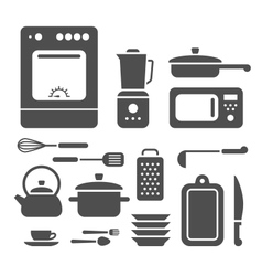 Set of cooking utensils vector image vector image
