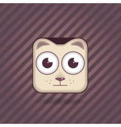 app icon cat vector image