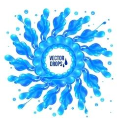 Blue paint splash circle on white background vector image vector image