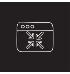 Exit full screen sketch icon vector image