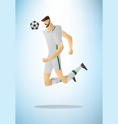 football player 02 vector image