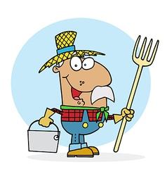 Hispanic Farmer vector image vector image