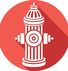 Open Fire Hydrant Icon vector image vector image