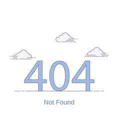 404 error page link to a non-existent page vector