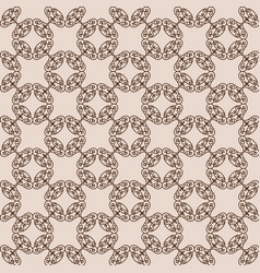 Abstract arabesque ornament on beige background vector
