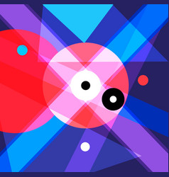 Abstract background with geometric objects vector