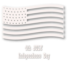 American flag in white style vector image