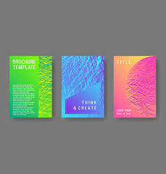 Annual report covers design set vector