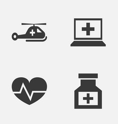 Antibiotic icons set collection copter vector