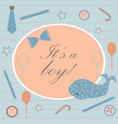 baby boy birth announcement baby shower vector image vector image