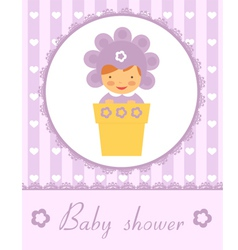 Baby In pot card vector image